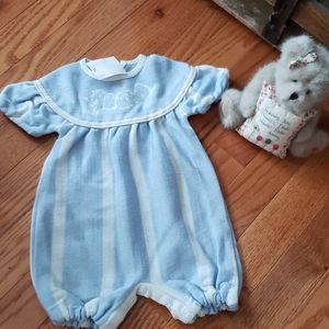 New born baby rompers blue